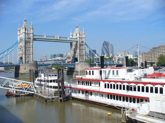 Tower Bridge and Pleasure Boat