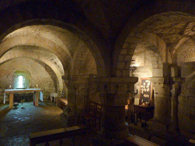 The Norman crypt, St. Mary's, Lastingham