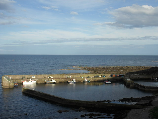 Burnmouth Harbour in Berwickshire
