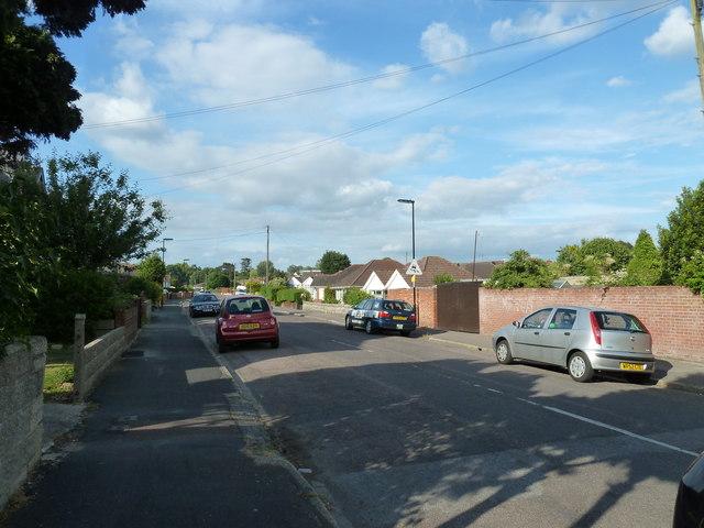 Looking north-east up Merrivale Road