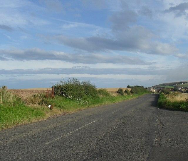 Coast road heading to Burnmouth from Eyemouth