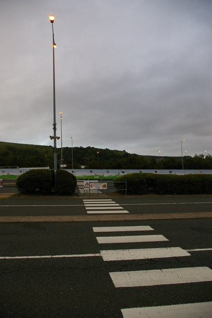 Channel Tunnel terminal: the assembly area