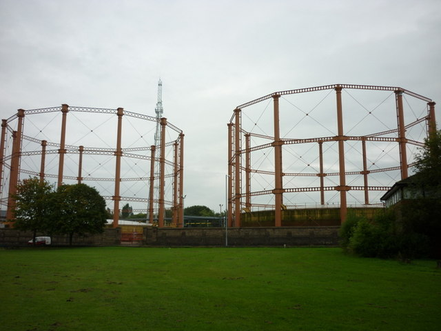 The gasholders on Spa Road