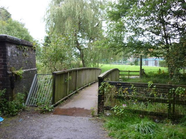 A footbridge over the River Croal