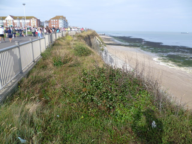 The cliffs at The Oval, Cliftonville