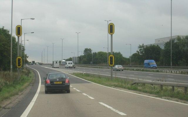 M4, junction 12, eastbound slip road