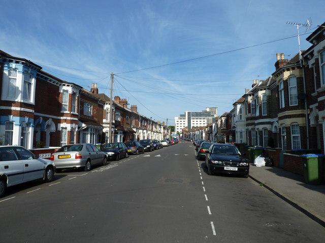 Looking westwards along Oxford Road