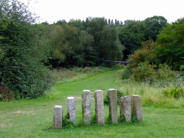 Standing stones in Elthorne Park