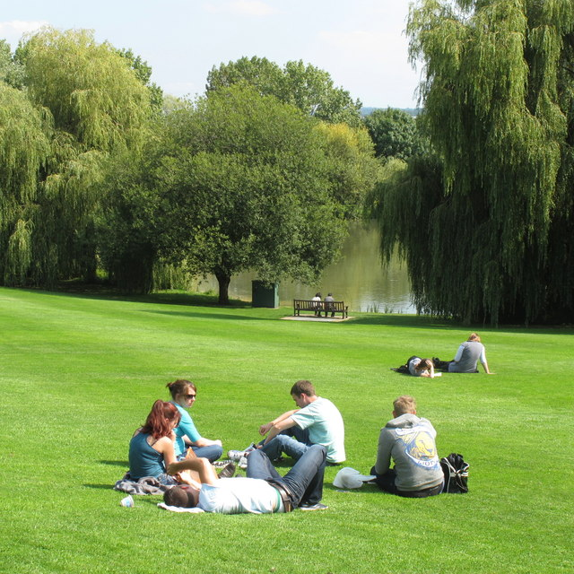 Lunch on the lawn, University of Surrey