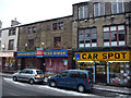 SE0925 : Car Spot car spares store and an empty amusement arcade - Union Street, Halifax by Phil Champion