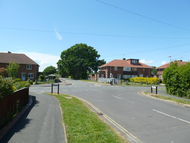 Crossroads of Hillson Drive, Wynton Way and Henry Cort Drive