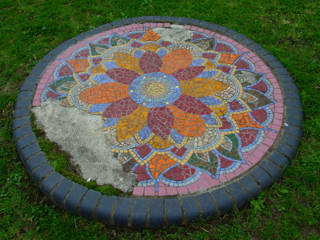Mosaic in Elthorne Park