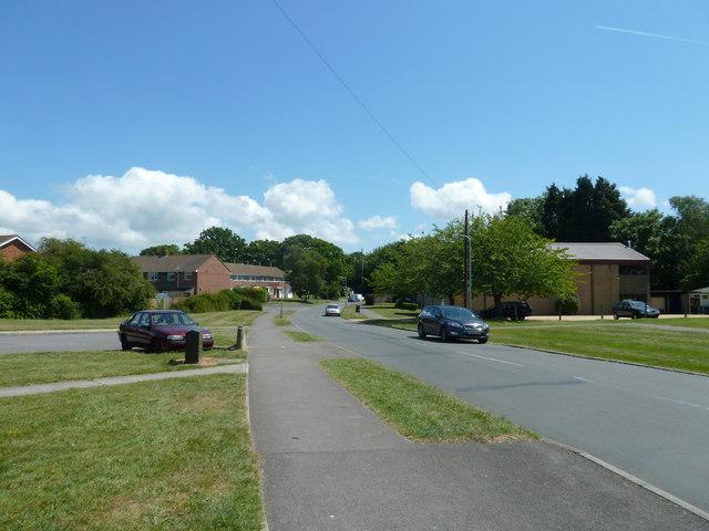 Approaching a church in Privett Road