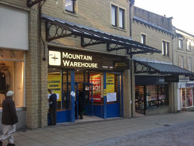 Mountain Warehouse closing down sale - Woolshops, Halifax