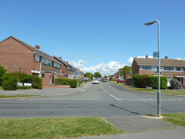 Looking from Privett Road into Norset Road