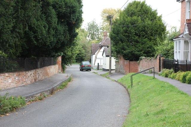 View along Wellshead lane
