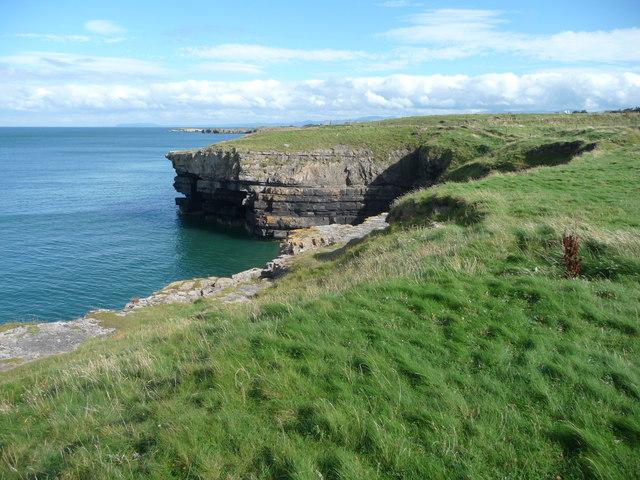 Cliff on the coast near Porth Forllwyd