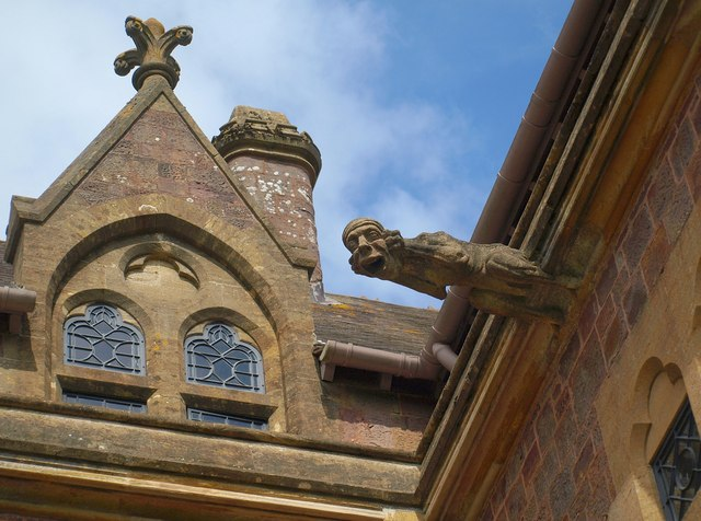 Detail of facade, Knightshayes Court