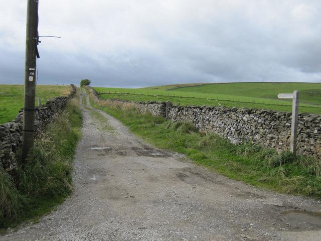 Moor Head Lane from Goat Lane