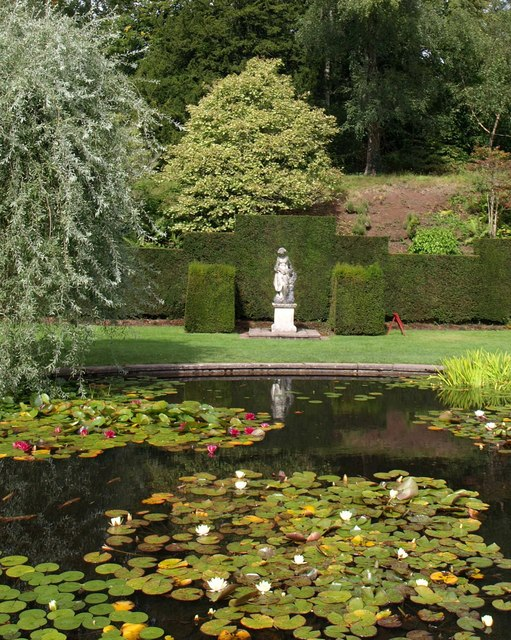 Lily pond and nymph, Knightshayes Court