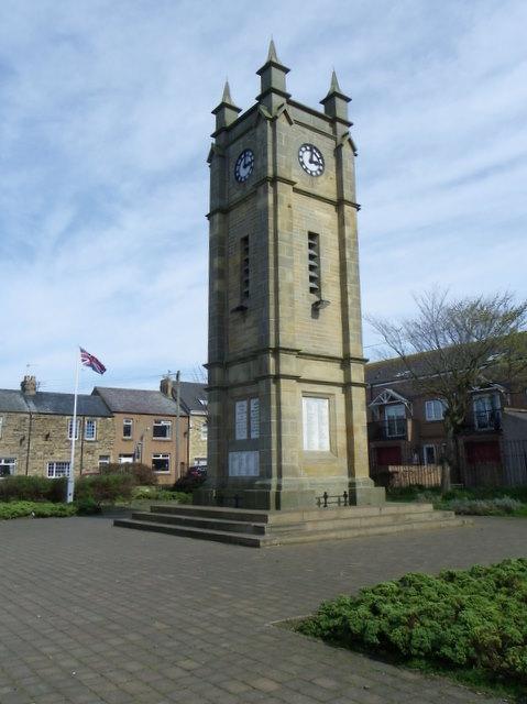 Clock Tower War Memorial, Amble