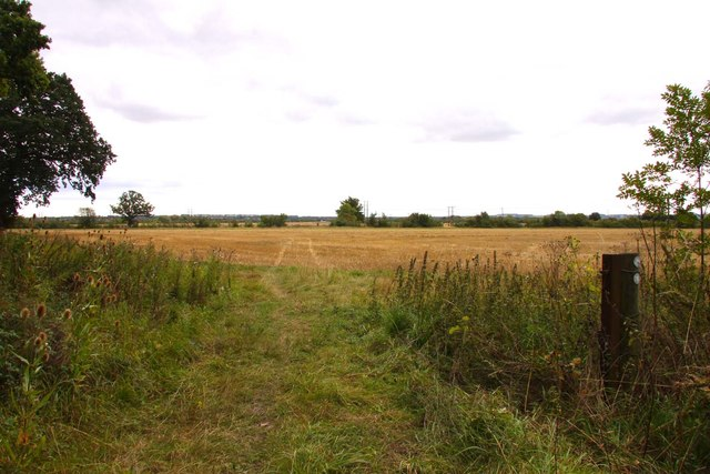 Bridleway by the field