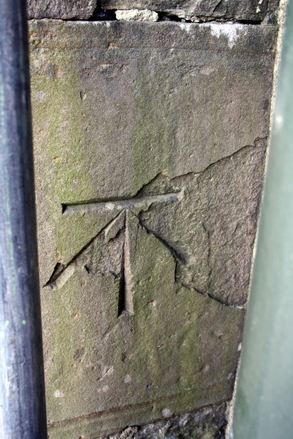 Benchmark on the School/Parish Hall