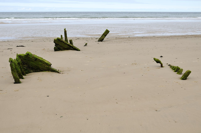 Ship wreck, East Bar, Blakeney Point