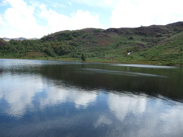 View across part of Llyn Dinas
