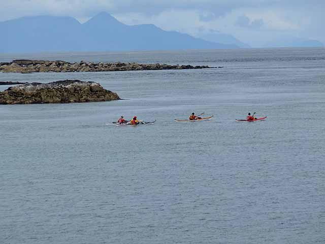 Sea canoes at Corran Lunga