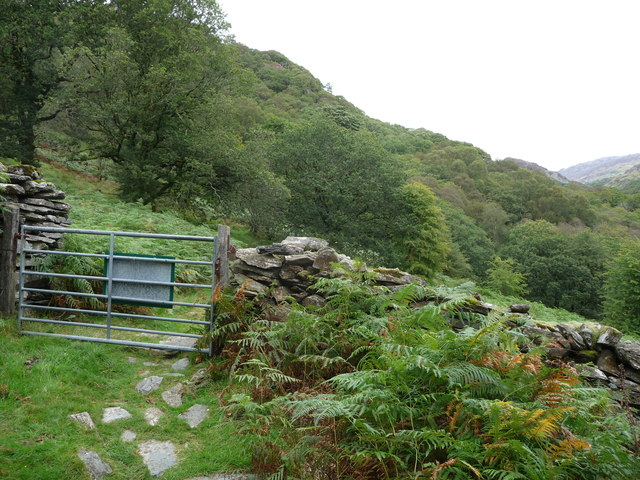 Gate on the path in the Nanmor Valley