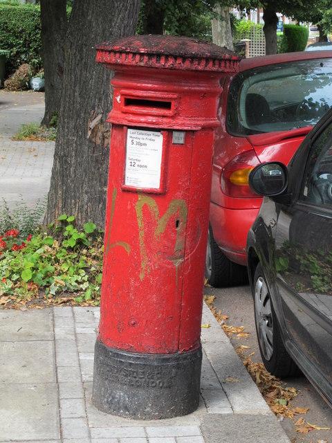 """Anonymous"" (Victorian) postbox, Blenheim Gardens / Grosvenor Gardens, NW2"