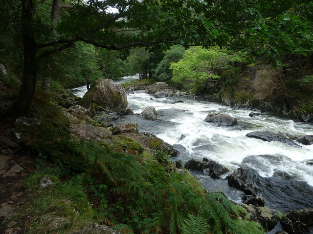 The Afon Glaslyn in the Pass of Aberglaslyn
