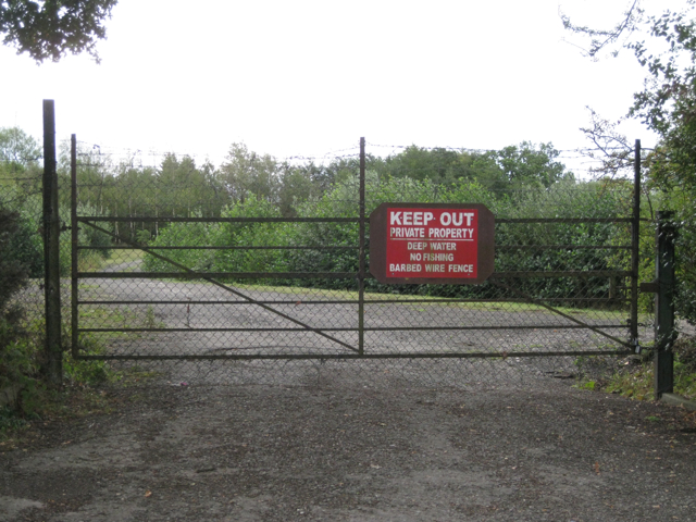 Gates to old sand and gravel pits