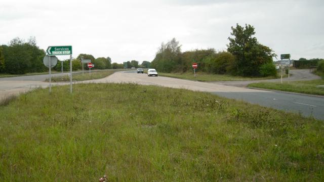 A452 central reservation at Marsh Lane