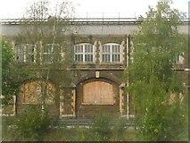 SU1484 : Swindon : Boarded up Building by Lewis Clarke