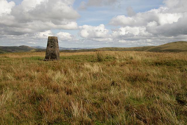 The triangulation pillar on Black Hill