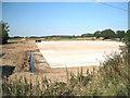 SP2280 : New concrete slab by Mercote Hall Lane  by Robin Stott