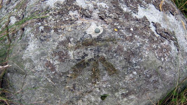 Benchmark on roadside rock