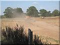 SP2280 : Wagon on a dusty haul road  by Robin Stott