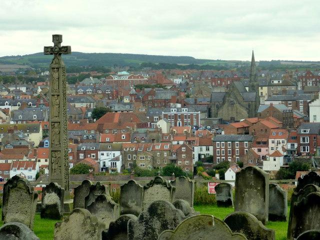 St. Mary's churchyard with Caedmon's Cross