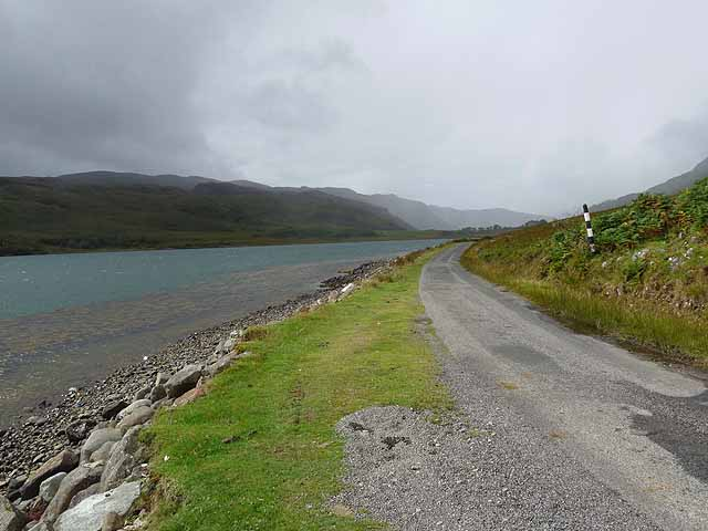 Lochside road at Port a'Mhinisteir