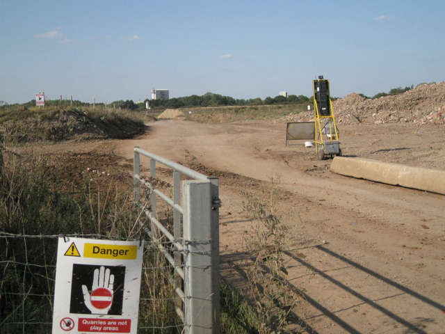 Haul road through Berkswell Quarry