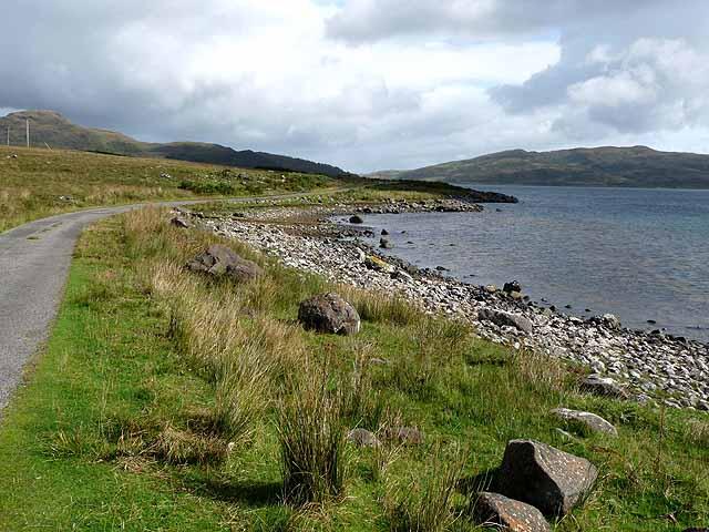 Road along Loch Spelve