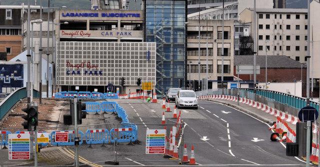 Repairs, Queen Elizabeth Bridge, Belfast (1)