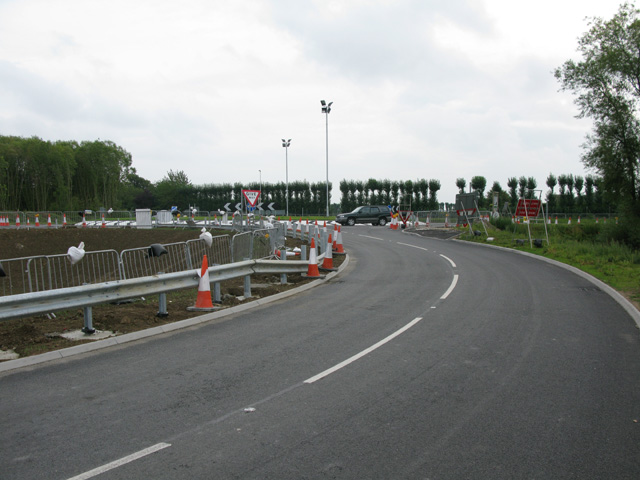 The new Ebbsfleet roundabout on the A256
