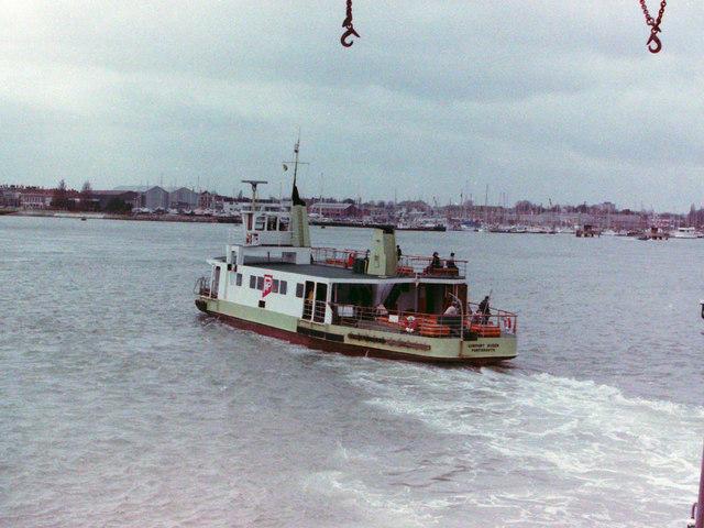 """Gosport Queen"" Crossing Portsmouth Harbour, 1985"