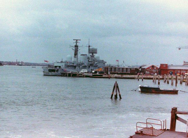 Destroyer at Portsmouth, 1985