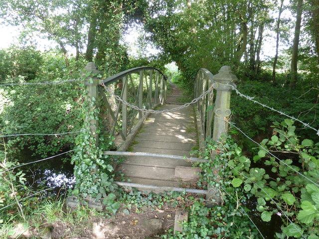 Old metal footbridge over the Hammer Stream
