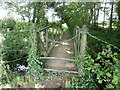 SU8422 : Old metal footbridge over the Hammer Stream by Dave Spicer